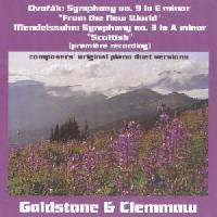 Picture of CD of original arrangements for four hands / one piano, by the composers of their symphonic works, performed by the Goldstone and Clemmow Piano Duo