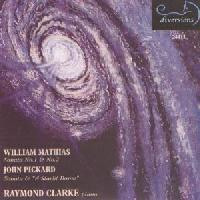 Picture of CD of piano sonatas by William Mathias and John Pickard, performed by Raymond Clarke
