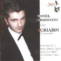 Picture of CD of music for piano by Scriabin performed by Daniel Grimwood