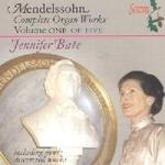 Picture of CD of music for organ by Mendelssohn, performed by Jennifer Bate, Vol. 1