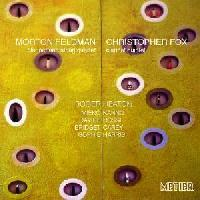 Picture of CD of music for clarinet and string quartet by Morton Feldman and Christopher Fox performed by Roger Heaton (clarinet) Artist: Roger Heaton, Davide Rossi, Bridget Carey, Sophie Harris, Christopher Fox and Mieko Kanno
