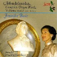 Picture of CD of music for organ by Mendelssohn, performed by Jennifer Bate, Vol.2