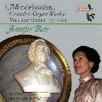 Picture of CD of music for organ by Mendelssohn, performed by Jennifer Bate, Vol.3