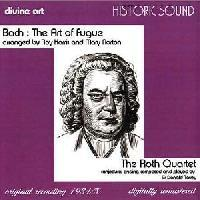 Picture of CD of Bach's Art of Fugue performed by the Roth Quartet in an arrangement for string quartet by Roy Harris and Mary Norton - recorded 1934/5