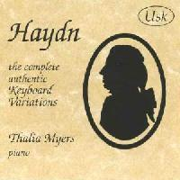 Picture of CD of piano music by Haydn performed by Thalia Myers