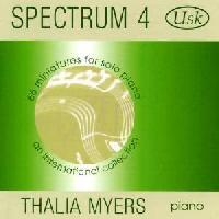 Picture of CD of miniatures for solo piano performed by Thalia Myers
