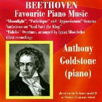 Picture of CD of piano music by Beethoven performed by Anthony Goldstone