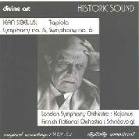 Picture of CD of orchestral music by Jean Sibelius performed by the London Symphony Orchestra, conducted by Robert Kajanus, and the Finnish National Orchestra, conducted by Georg Schneevoigt