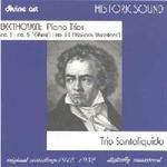 Picture of CD of piano trios No 3, No 5 and No 11 by Beethoven, performed by Trio Santaliquido