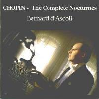 Picture of CD of piano music by Chopin performed by Bernard D'Ascoli