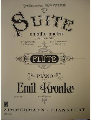 Picture of Sheet music for flute and piano by Emil Kronke