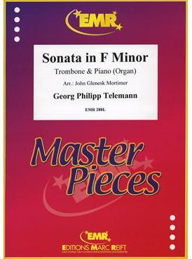 Picture of Sheet music  for trombone (bc/tc); piano or organ. Sheet music for tenor trombone (bass clef or treble clef)  and piano or organ by Georg Philipp Telemann