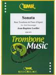 Picture of Sheet music for bass trombone and piano or organ by Jean-Baptiste Loeillet