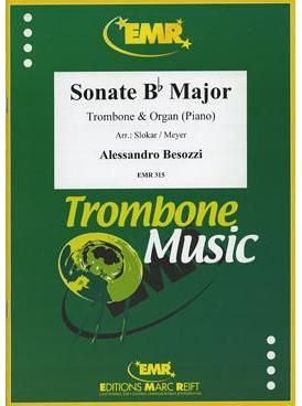Picture of Sheet music for alto or tenor trombone and piano or organ by Alessandro Besozzi