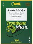 Picture of Sheet music for tenor trombone and piano or organ by Antonio Caldara