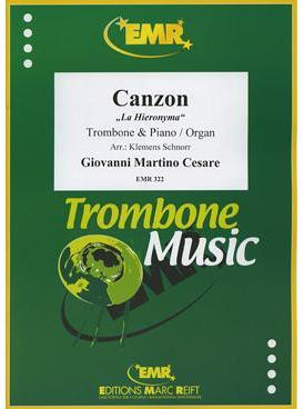 Picture of Sheet music for tenor trombone and piano or organ by Giovanni Cesare