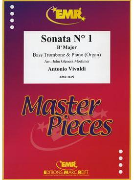Picture of Sheet music for bass trombone and piano or organ by Antonio Vivaldi