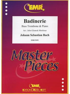 Picture of Sheet music for bass trombone and piano by Johann Sebastian Bach