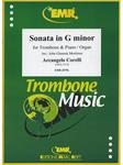 Picture of Sheet music for tenor trombone and piano or organ by Arcangelo Corelli