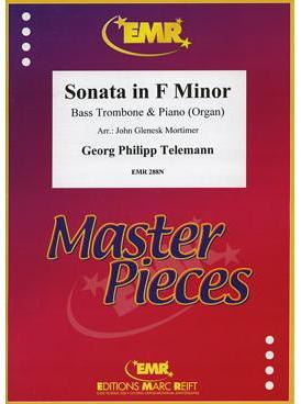 Picture of Sheet music for bass trombone and piano or organ by Georg Philipp Telemann