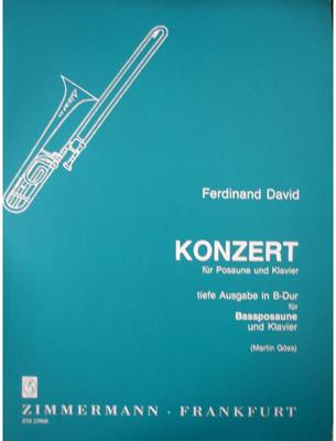 Picture of Sheet music for bass trombone and piano by Ferdinand David