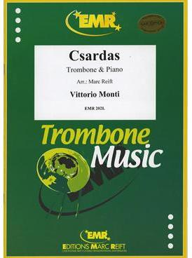 Picture of Sheet music for tenor trombone and piano by Vittorio Monti