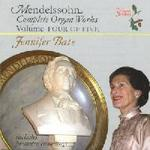 Picture of CD of organ music by Mendelssohn, performed by Jennifer Bate