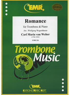 Picture of Sheet music for tenor trombone and piano by Carl Maria von Weber