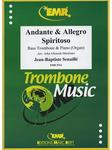 Picture of Sheet music for bass trombone and piano or organ by Jean-Baptiste Senallié