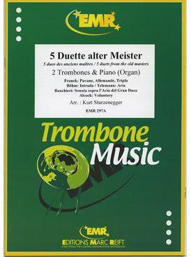 Picture of Sheet music  by Album of composers. Sheet music for 2 tenor trombones and piano or organ