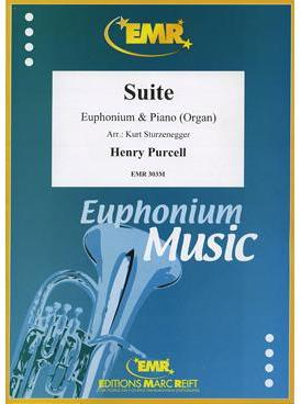 Picture of Sheet music for baritone, tenor trombone (treble clef) or euphonium and piano or organ by Henry Purcell