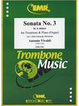 Picture of Sheet music for tenor trombone and piano or organ by Antonio Vivaldi
