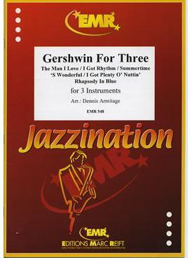 Picture of Sheet music  for trumpet (bb/c) or cornet; french horn (eb/f), trumpet (bb/c) or cornet; trombone (bc/tc) or euphonium. Sheet music for brass trio by George Gershwin