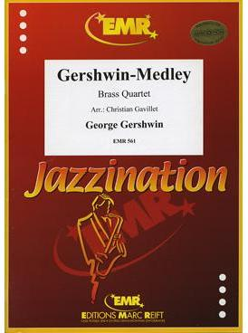 Picture of Sheet music  for 2 trumpets or cornets; french horn (eb/f) or trombone (bc/tc); trombone (bc/tc) or euphonium. Sheet music for brass quartet by George Gershwin