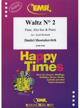 Picture of Sheet music for flute, alto saxophone and piano by Dmitri Shostakovitch