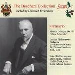 Picture of CD of Sir Thomas Beecham conducting London Philharmonic Orchestra and Leeds Festival Chorus in  Beethoven's Mass in D Major, Op.123 'Missa Solemnis',    digitally remastered from original 78s recorded in 1937.