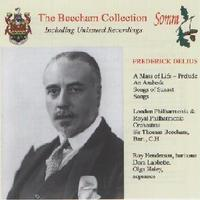 Picture of CD of Sir Thomas Beecham conducting London Philharmonic and Royal Philharmonic Orchestras in works by Frederick Delius, digitally remastered from original 78s recorded in the 1930s and 1940s.