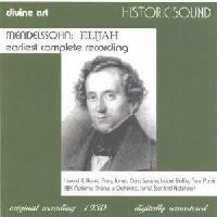 Picture of CD of the oratorio Elijah by Mendelssohn performed by The Wireless Singers, BBC National Chorus and Orchestra conducted by Stanford Robinson.
