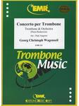 Picture of Sheet music for alto trombone or tenor trombone and piano by Georg Wagenseil