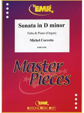 Picture of Sheet music for tuba and piano or organ by Michel Corrette