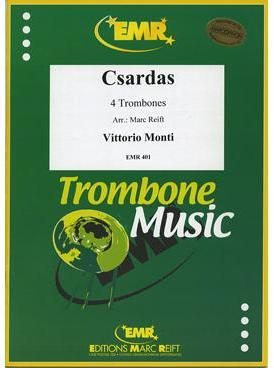Picture of Sheet music for 4 trombones by Vittorio Monti