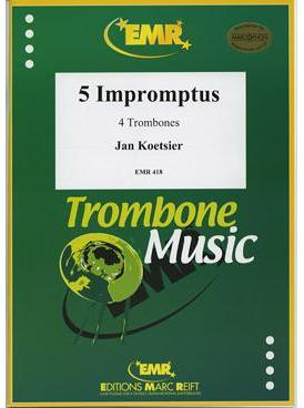 Picture of Sheet music for 3 tenor trombones and bass trombone by Jan Koetsier