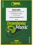 Picture of Sheet music for 4 tenor trombones and organ by Johann Pezel
