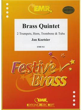 Picture of Sheet music  for 2 trumpets, french horn, trombone and tuba. Sheet music for brass quintet by Jan Koetsier