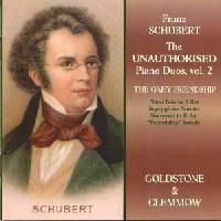 Picture of CD of piano duos by Franz Schubert, arranged by Josef von Gahy and performed by Goldstone and Clemmow
