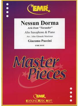 Picture of Sheet music for alto saxophone and piano by Giacomo Puccini