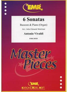 Picture of Sheet music for bassoon and piano or organ by Antonio Vivaldi