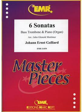 Picture of Sheet music for bass trombone and piano or organ by Johann Galliard