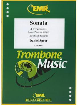 Picture of Sheet music for 4 trombones and optional piano or organ by Daniel Speer