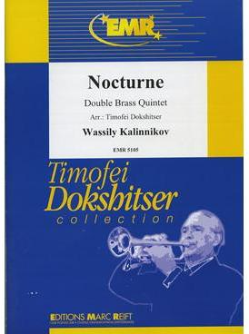 Picture of Sheet music  for piccolo trumpet, 3 trumpets, 2 french horns, 2 trombones and 2 tubas. Sheet music for brass tentet by Vasili Kalinnikov